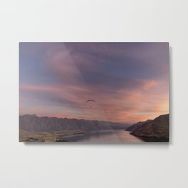 Sunset over Lake Wakatipu Metal Print