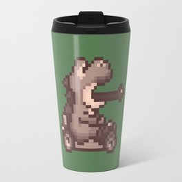 Pixelated Super Mario Kart - Yoshi Travel Mug