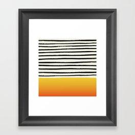 Sunset x Stripes Framed Art Print