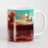 kindle Mugs featuring When she was six by Cyril ROLANDO