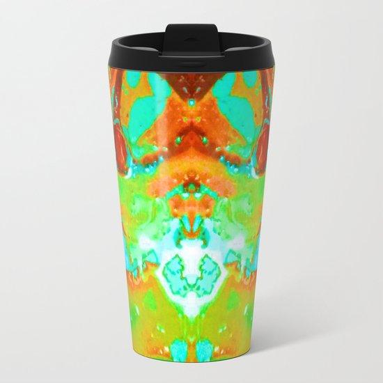 Orange to Blue Medley Metal Travel Mug