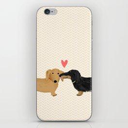 Dachshunds Love iPhone Skin