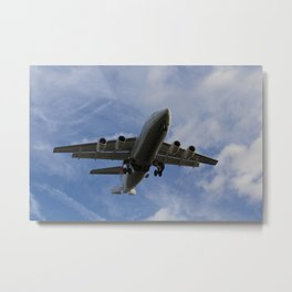 City Jet British Aerospace Avro RJ85 Metal Print
