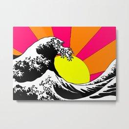 Endless Wave Metal Print
