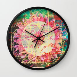 THE LUNAR DANCE PARTY IV - THE MOONFLOWER Wall Clock