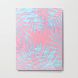 Pink and Blue Tropicana Metal Print