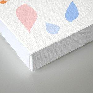 Colorful pastel leaves Canvas Print