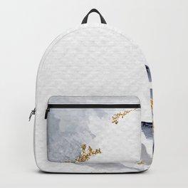 Shimmering Leafy Background Illustration Backpack