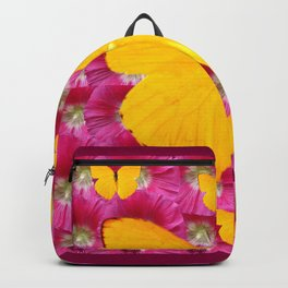 GOLDEN BUTTERFLIES ON FUCHSIA PINK Backpack