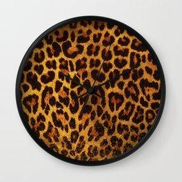 Glitter Leopard Print Wall Clock