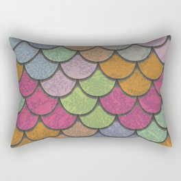 Scales Multicolor Rectangular Pillow