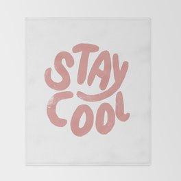 Stay Cool Vintage Pink Throw Blanket