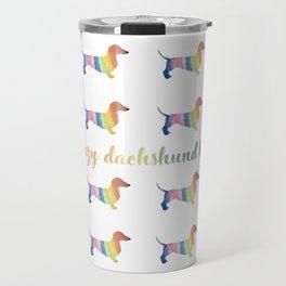 Crazy Dachshund Lady Travel Mug