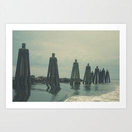 Ferry Dock Haze Art Print