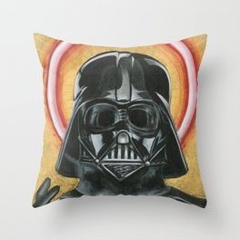 Saint Vader Throw Pillow
