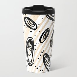 The Visitors - Black White and Gold Travel Mug