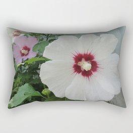 Morning Mist Hibiscus Flowers Rectangular Pillow