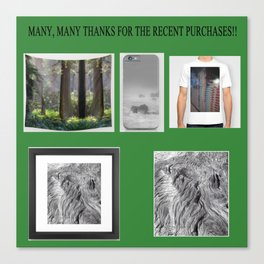 Thanks To The Buyers Canvas Print