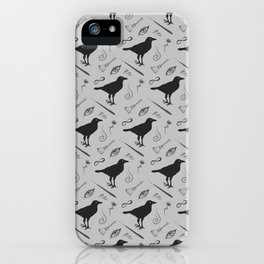 Witch and wizard pattern iPhone Case