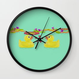Duckies Wall Clock