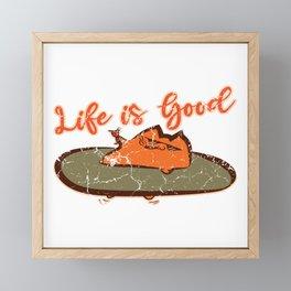 Life Is Good Breed Feline Purr Claws Arrogant Collection Dope Pet Meow Cat T-shirt Design Animal Framed Mini Art Print