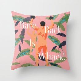 Bareback Banana Leaves Throw Pillow