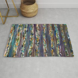 Abstract Birch Trees Rug