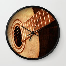 Guitar Art Wall Clock