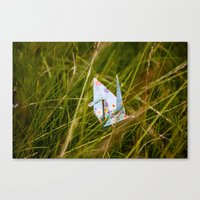 crane Canvas Prints featuring Crane by richporter
