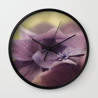hydrangea Wall Clocks featuring Hydrangea by Deborah Janke