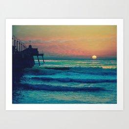 Bouncing Along The Ocean Waves ~ California Art Print
