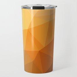 Shades Of Orange Triangle Abstract Travel Mug
