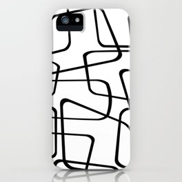 Mid Century Black And White Pattern iPhone Case