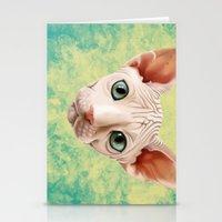 sphynx Stationery Cards featuring Sphynx by Cassidy Dawn