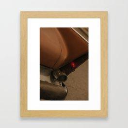 a brown car Framed Art Print
