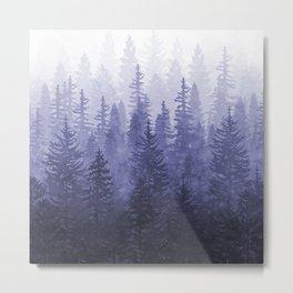 My Misty Secret Forest - deep purple Metal Print