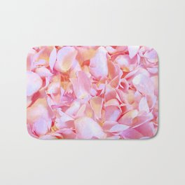 Pink flower petals - Beautiful Floral Rose Roses background Bath Mat