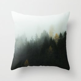Morning Forrest Throw Pillow