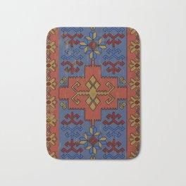Folk ancient carpet of the Caucasus Bath Mat