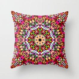 Happy Stone Kaleidoscope Mandala Throw Pillow