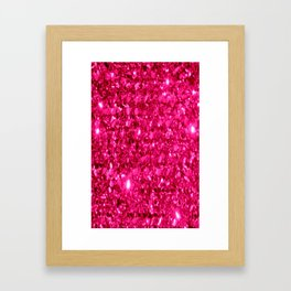 SparklE Hot Pink Framed Art Print