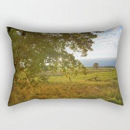 Autumn Countryside Landscape Sunset Rectangular Pillow