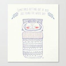 bedtime cat Canvas Print