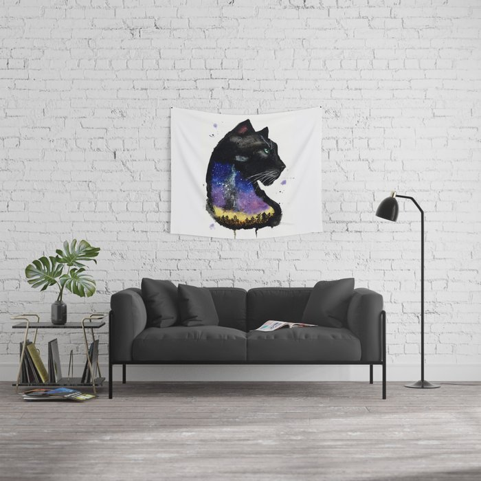 Galaxy Panther Wall Tapestry