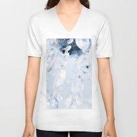 crystals V-neck T-shirts featuring Crystals by Mauricio Santana