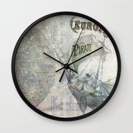 Europa and the Pirate Twins Wall Clock