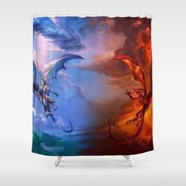 Order and Chaos Shower Curtain