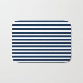 Navy-White ( Stripe Collection ) Bath Mat