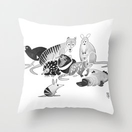 Tasmania Throw Pillow