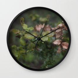 Oak Leaves Wall Clock